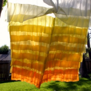 DIY Anthropologie Flamenco Shower Curtain in Sunshine