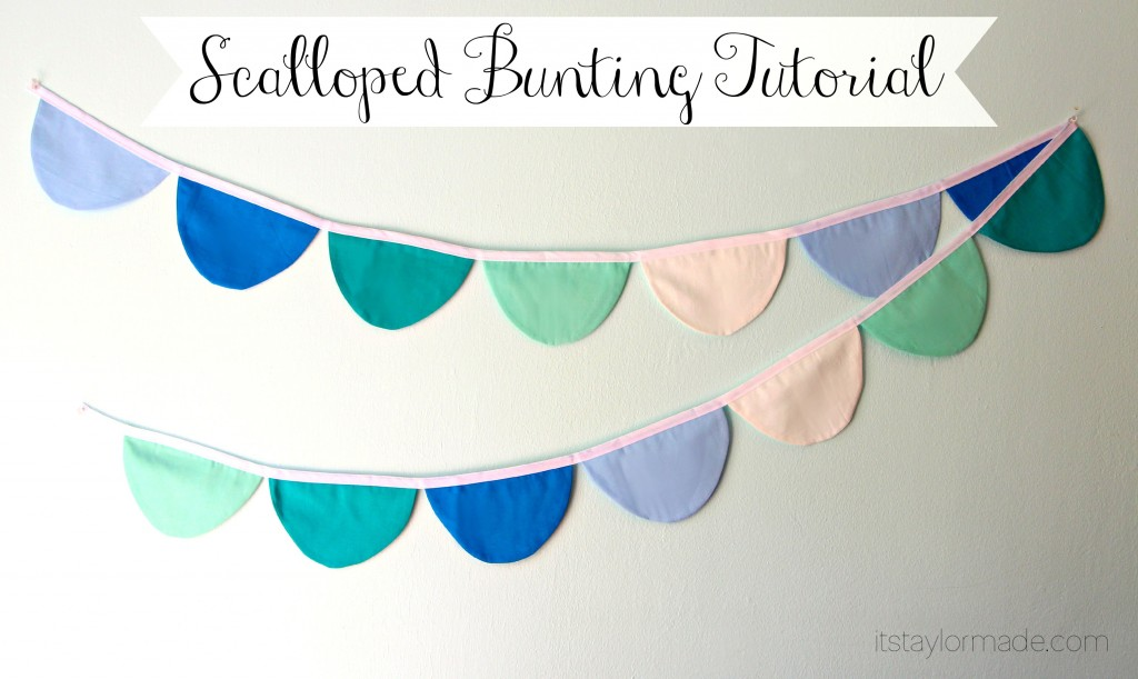 scalloped bunting tutorial