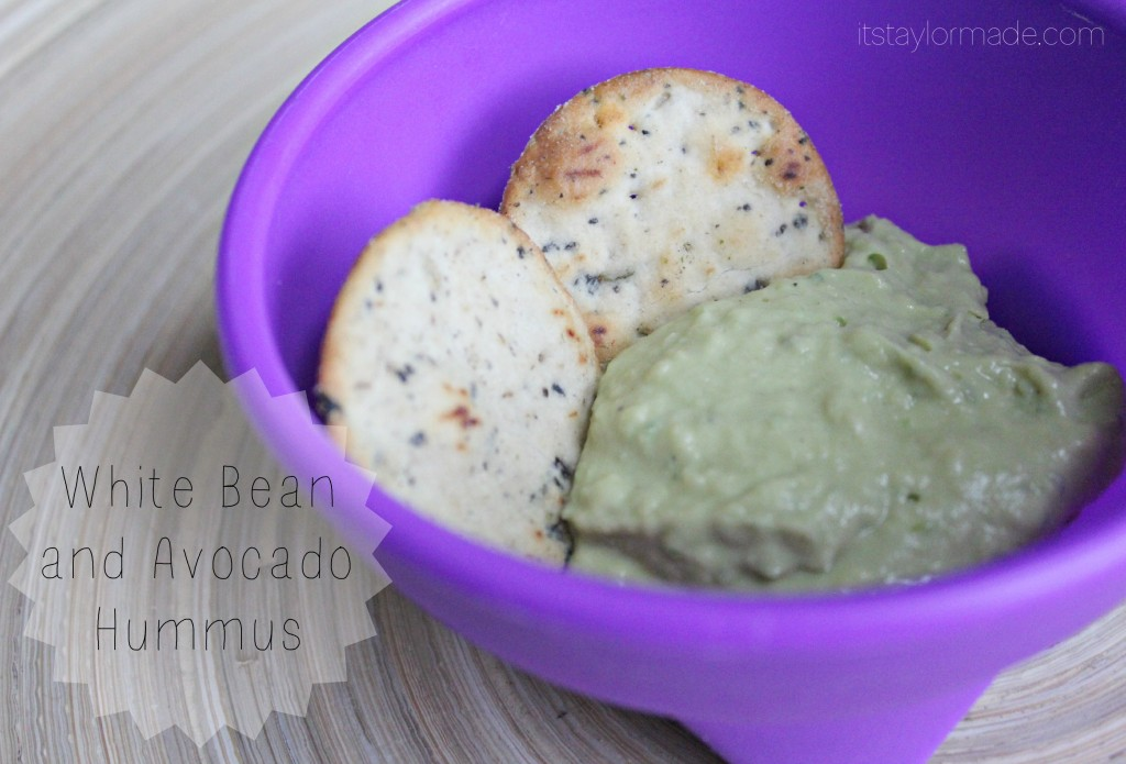 white bean and avocado hummus