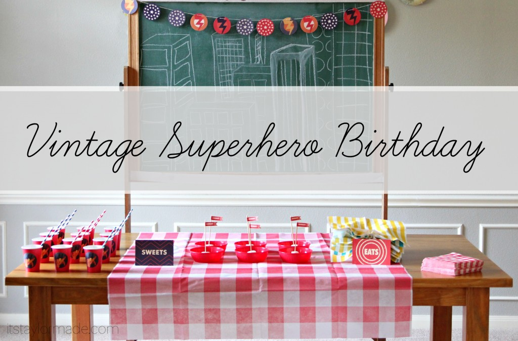 vintage superhero birthday party #superhero #vintage #superman #boy #birthday