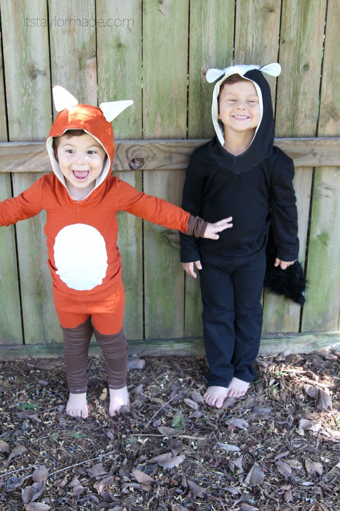 fox and skunk costumes
