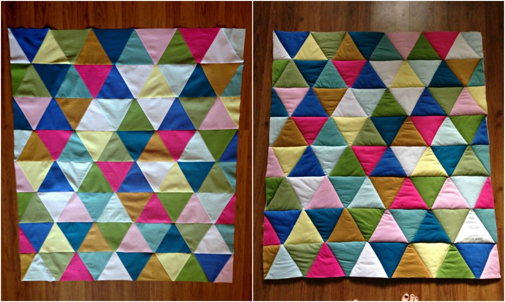 baby triangle quilt