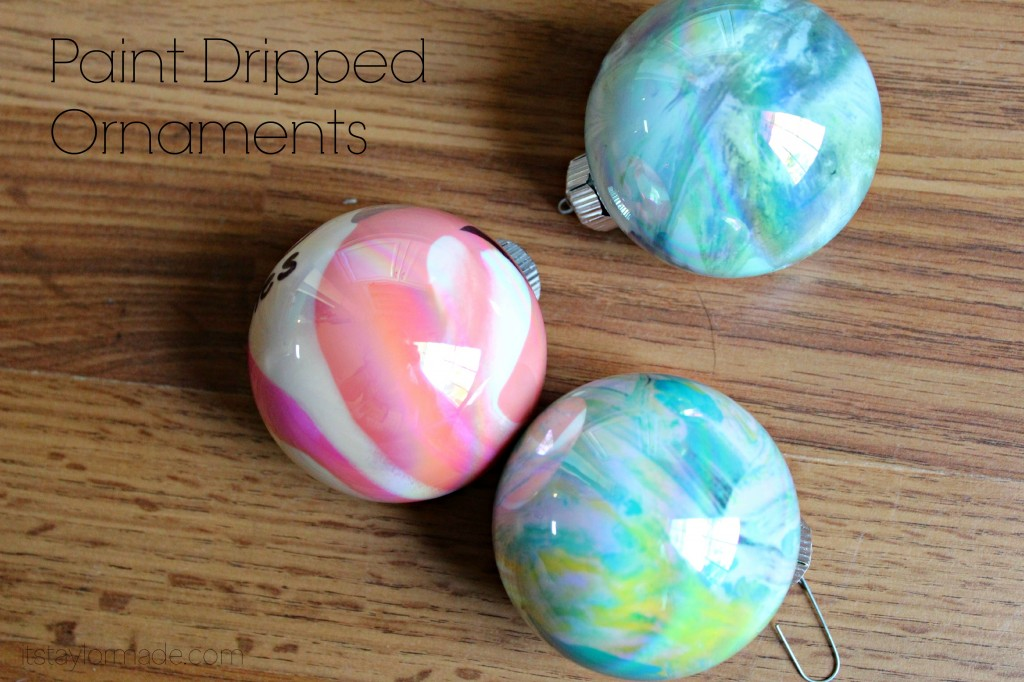 paint dripped ornaments
