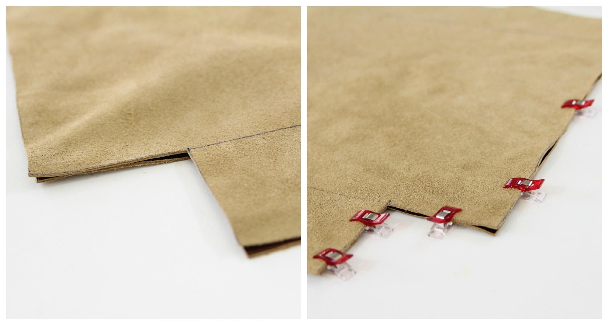 Clip seams bag bottom