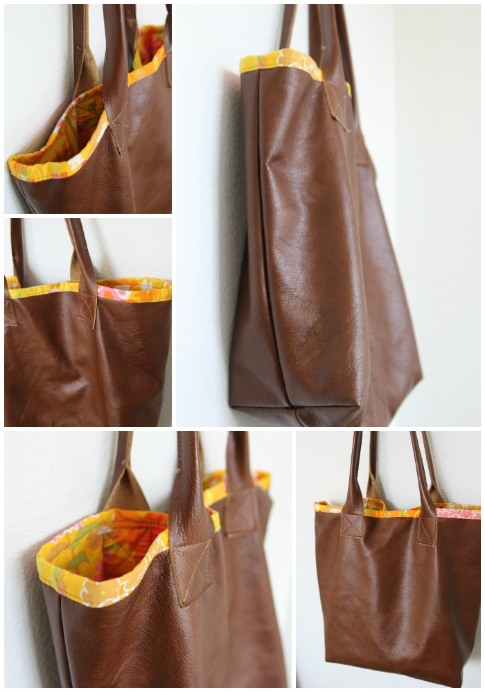 DIY Leather Tote with tips!