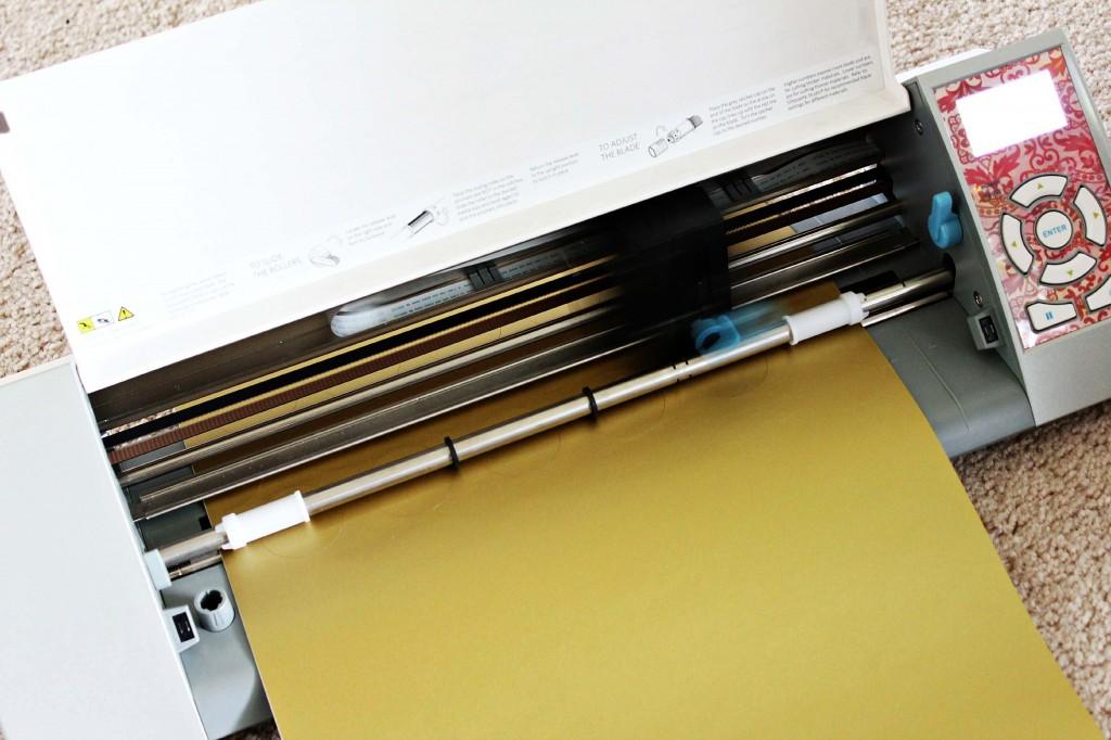 gold vinyl dots