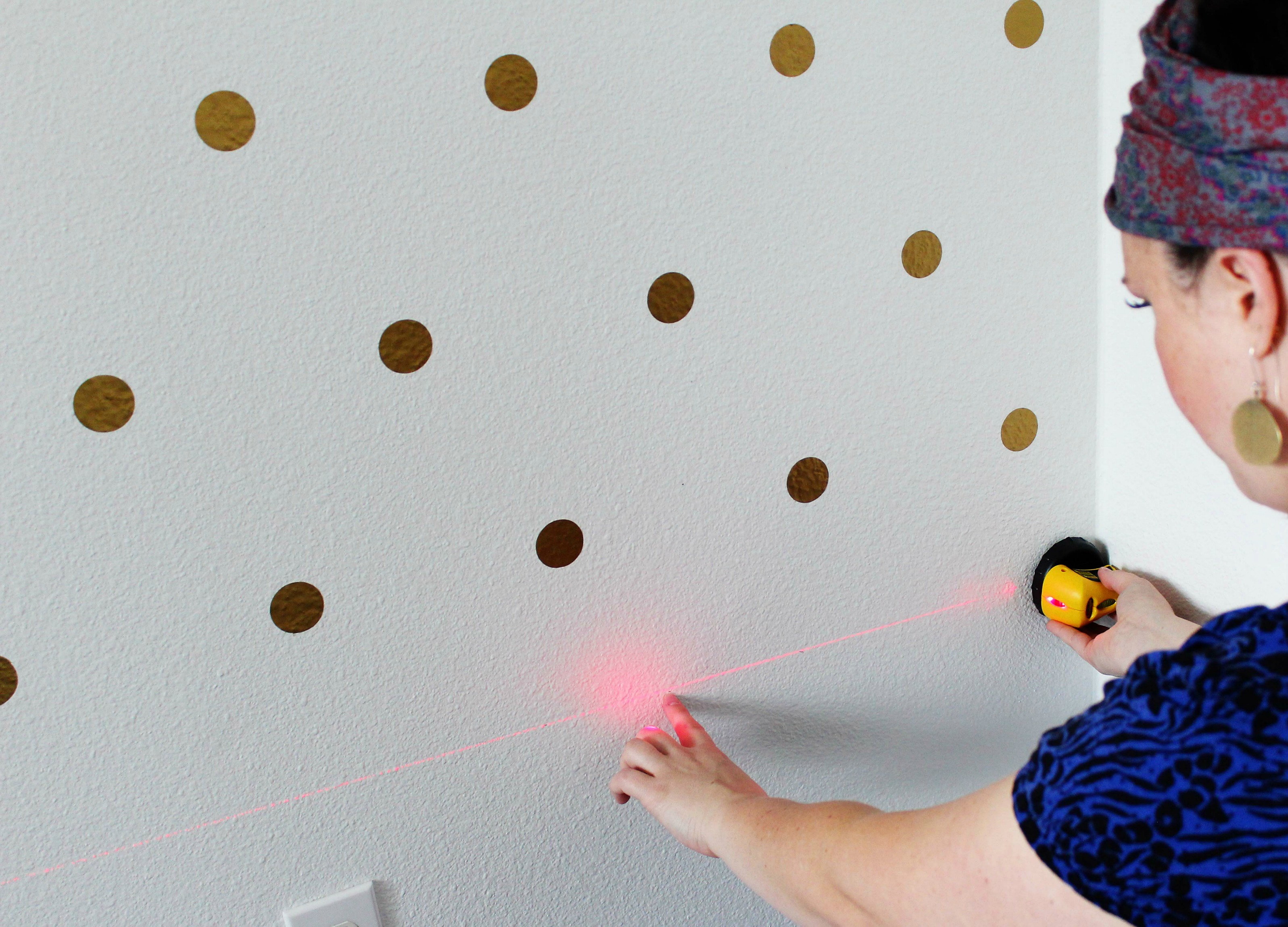Awesome patterned dot wall