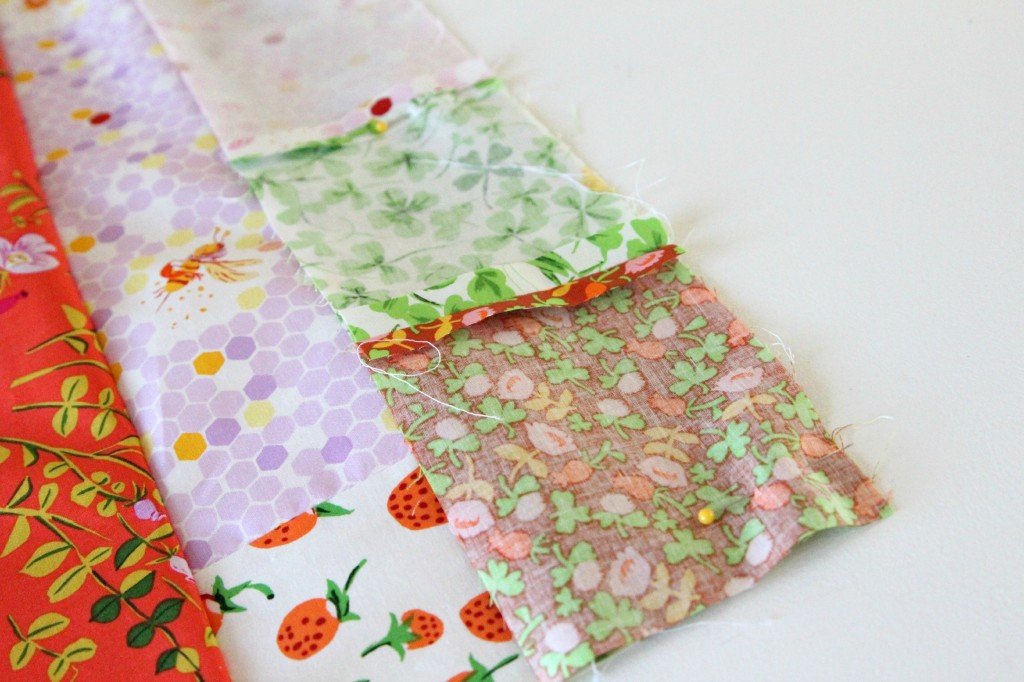 Briar rose strip quilt
