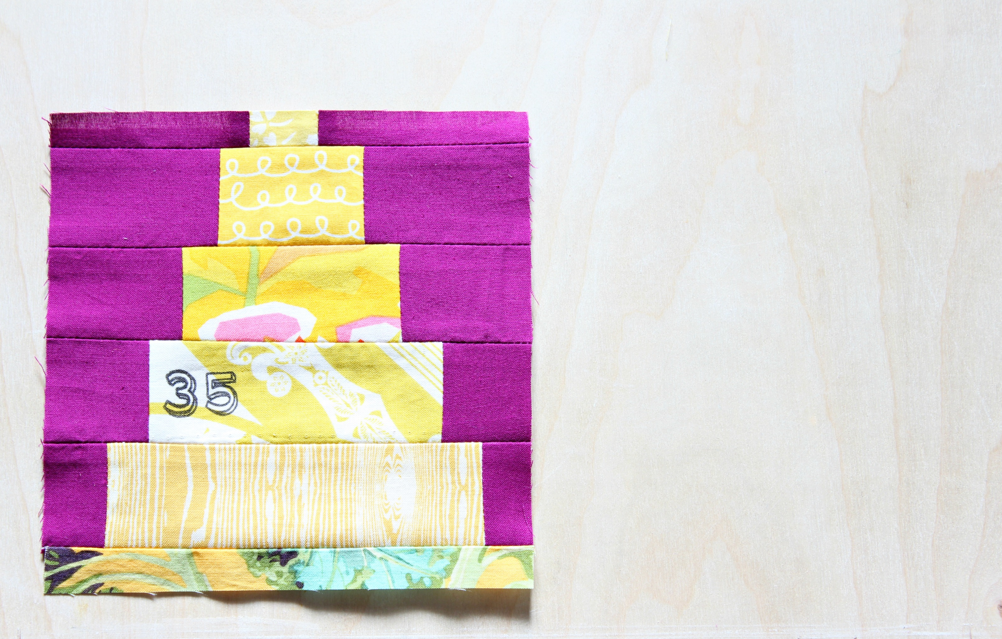 A Happy Birthday Quilt Block Taylormade