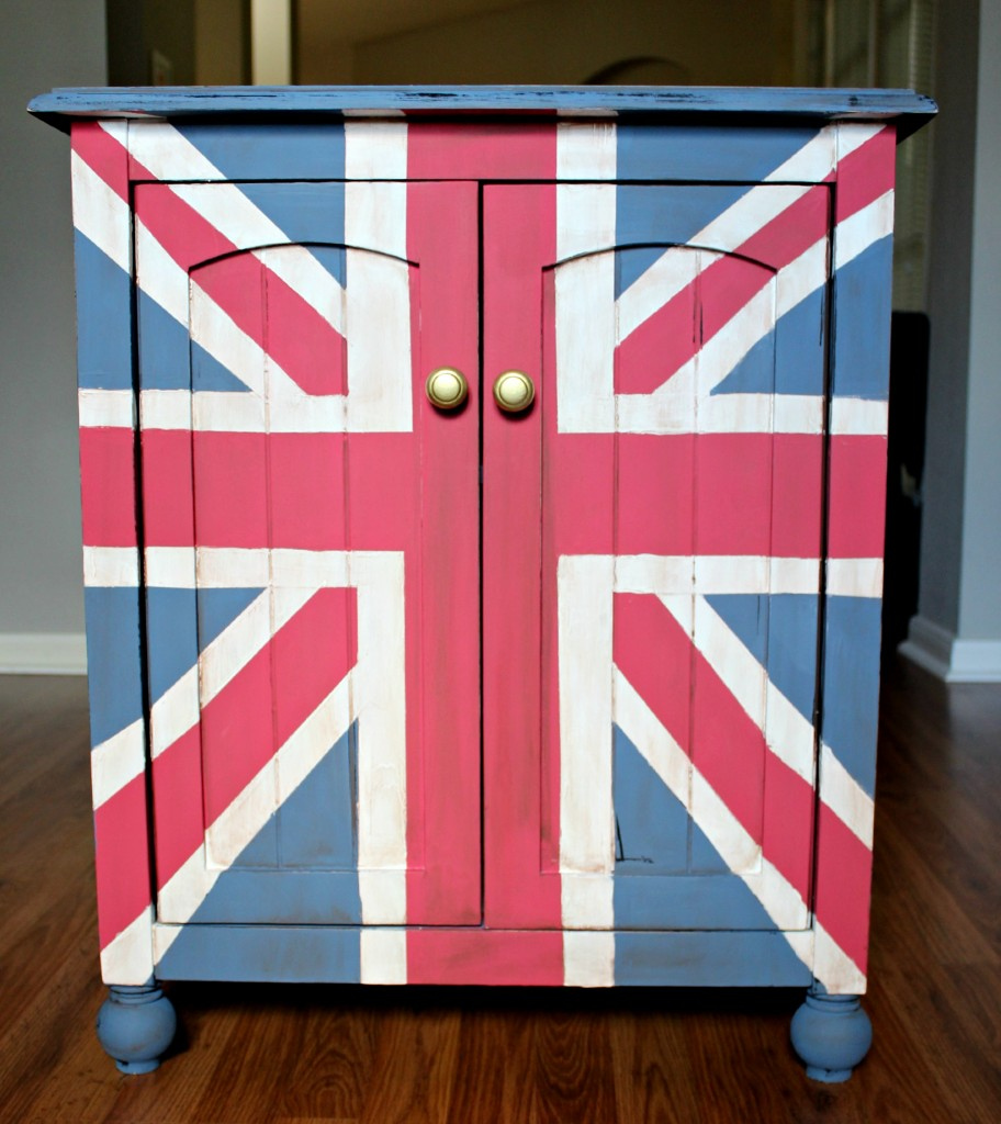 union jack end table