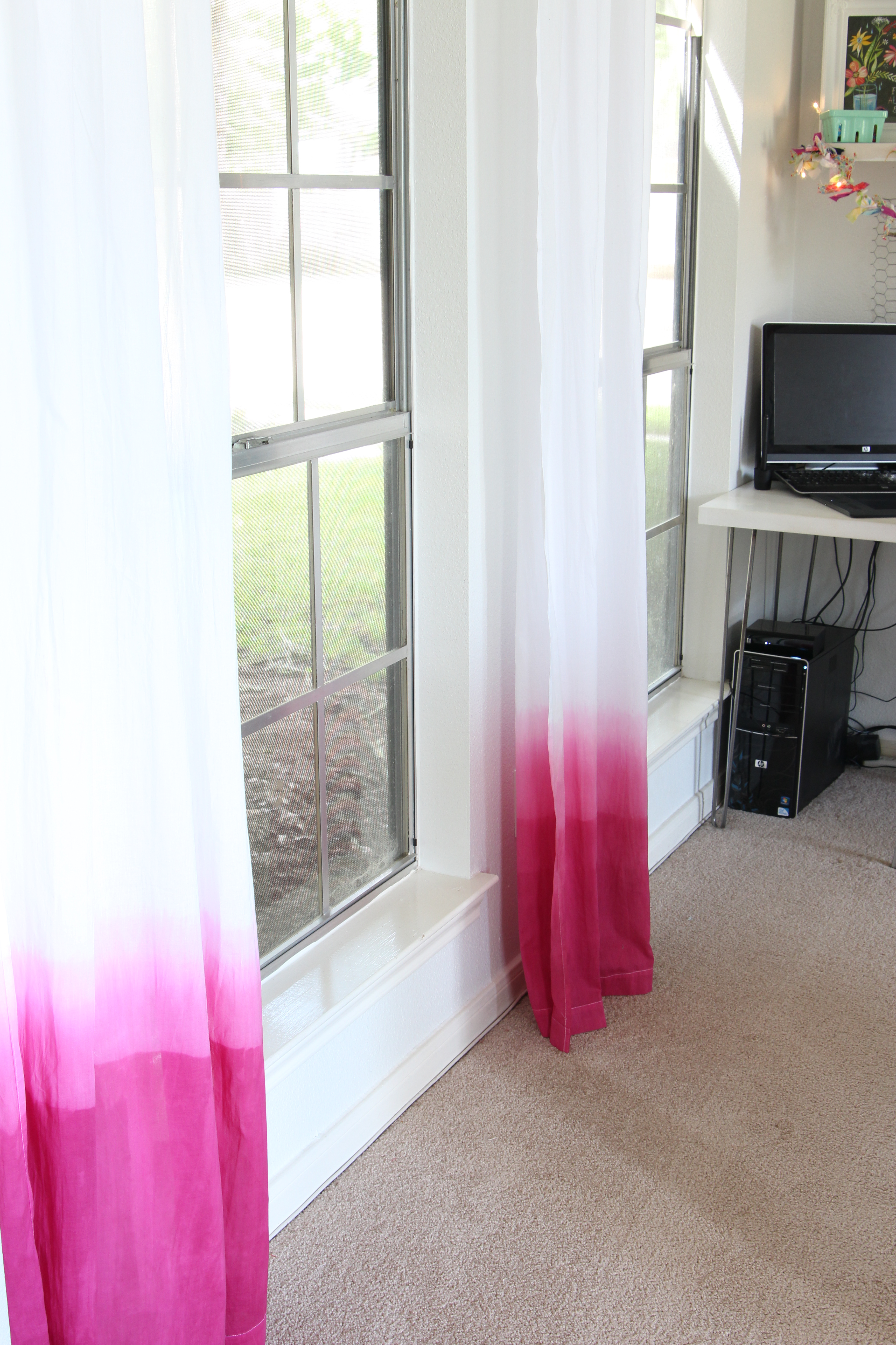DIY Ombre Curtains - TaylorMade for Ombre Curtains Pink  lp00lyp