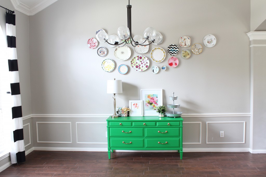 mid century buffet makeover