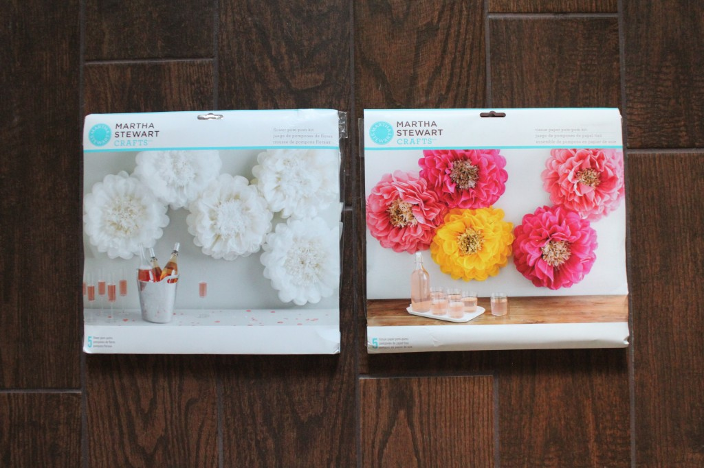 tissue paper pom pom flower kit