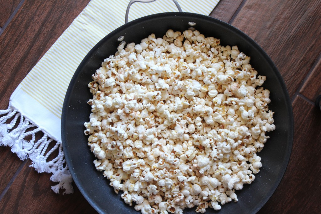 Cinnamon Sugar Popcorn in Stuffed Paper Pumpkins
