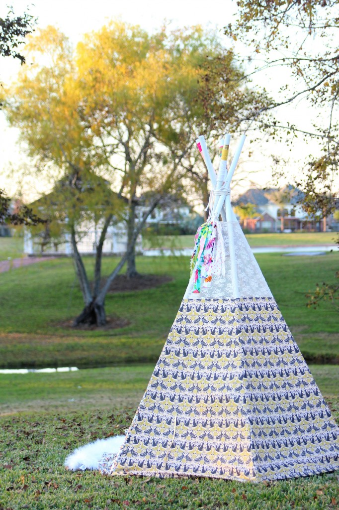 Bohemian TeePee with Forest Fables Fabric