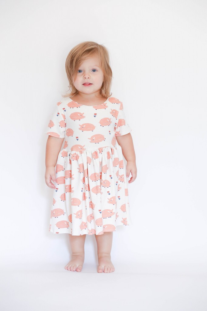 pippa peplum piggy dress