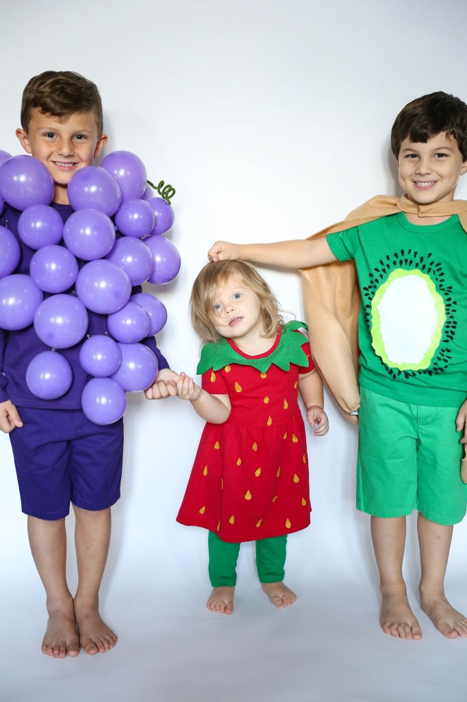 kids group fruit costume