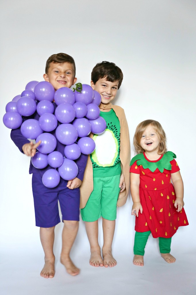 group kids fruit costume
