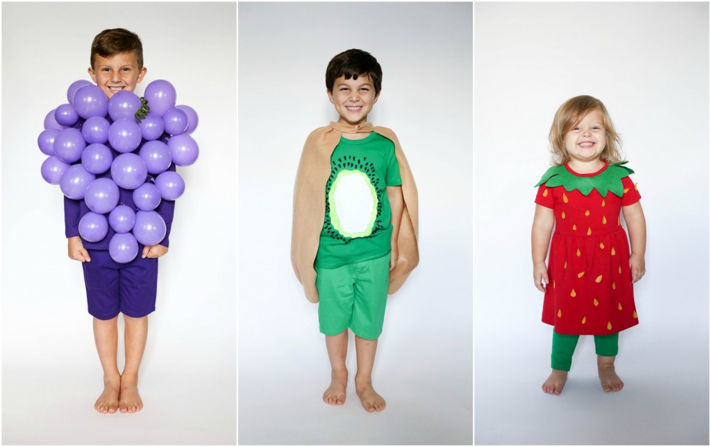 group fruit kids costume