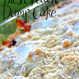 Fresh Peach Dump Cake – a Recipe
